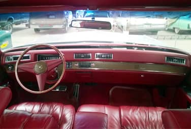 1975 cadillac fleetwood red interior