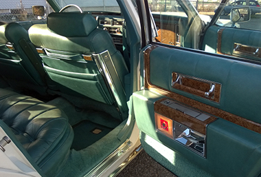 1979 Cadillac fleetwood turquois leather interior